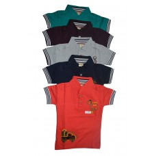 Multi color pure cotton tshirt with combo pack of 5 piecesB01CG4U39U